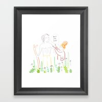 Poldarks Make up Artist  Framed Art Print