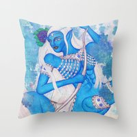 Sagittarius, The Lucky Traveler: Nov 22 - Dec 21 / Original Gouache On Paper Throw Pillow