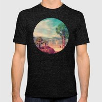 MALCESINE Mens Fitted Tee Tri-Black SMALL