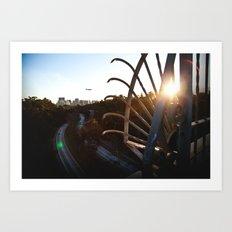 San Diego - Balboa Bridge  Art Print