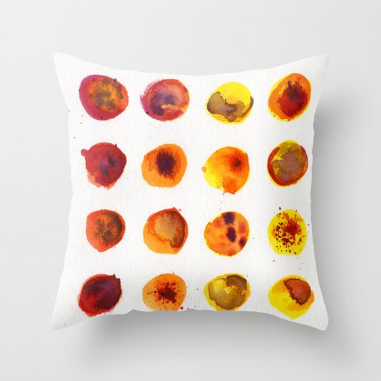 Sherbert Dot Throw Pillow