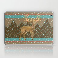 Golden Christmas Deer  Laptop & iPad Skin
