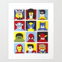 Felt Heroes Art Print