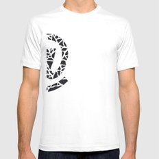 At Mens Fitted Tee SMALL White
