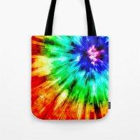 Tie Dye Meets Watercolor Tote Bag