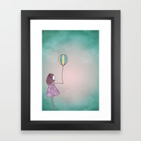 One Ballon Framed Art Print