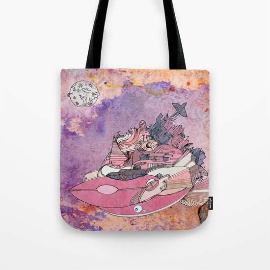 On my way to the moon. Tote Bag