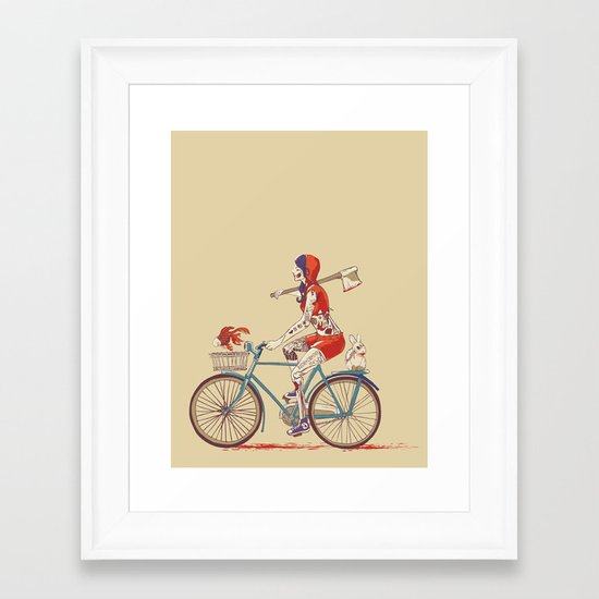Death Ride Framed Art Print