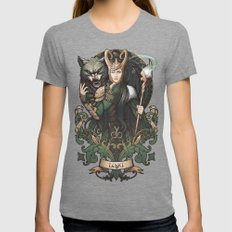 House of Loki: Sons of Mischief Womens Fitted Tee Tri-Grey SMALL