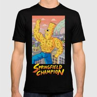 Springfield Champion Mens Fitted Tee Black SMALL