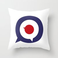 Mod thoughts Throw Pillow