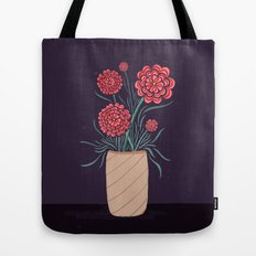Red Carnations Tote Bag