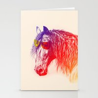 horse Stationery Cards featuring horse  by mark ashkenazi