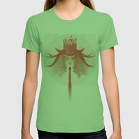 Crown Ruby Womens Fitted Tee Grass SMALL