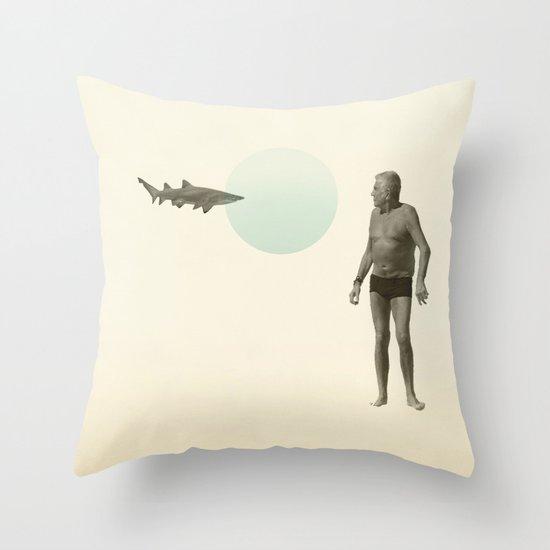 shark bate Throw Pillow