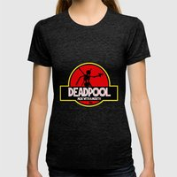Deadpool : Merc With A … Womens Fitted Tee Tri-Black SMALL