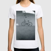 Bike Womens Fitted Tee Ash Grey SMALL