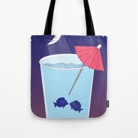 Waxing Waterglass Moon  Tote Bag