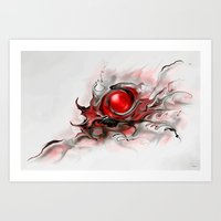 Abstraktus 6 red Art Print