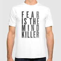 FEAR IS THE MINDKILLER Mens Fitted Tee White SMALL