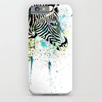zebra iPhone & iPod Cases featuring Zebra by Del Vecchio Art by Aureo Del Vecchio
