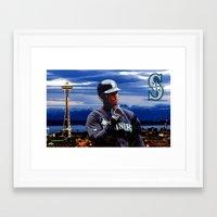 Ken Griffey Jr Seattle M… Framed Art Print