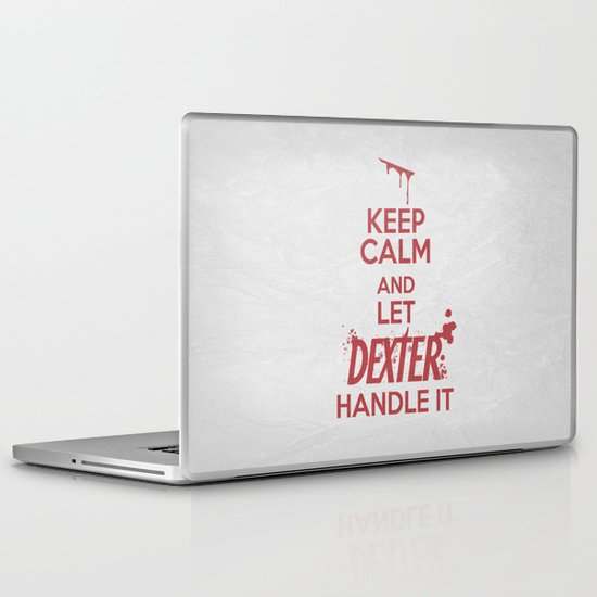 Keep Calm - Dexter Poster 01 Laptop & iPad Skin