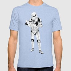 trooper empire Mens Fitted Tee Tri-Blue SMALL