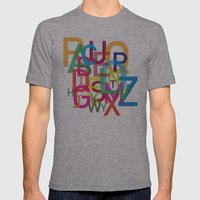 AMAZING ALPHABET Mens Fitted Tee Athletic Grey SMALL
