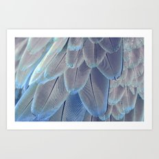 Silver Feathers Art Print