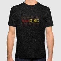 Team Katniss Mens Fitted Tee Tri-Black SMALL