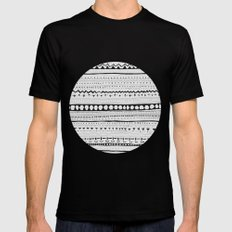 Pattern #1 Mens Fitted Tee Black SMALL