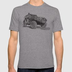 Jeep Mens Fitted Tee Athletic Grey SMALL