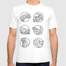 Cat lyf White Mens Fitted Tee SMALL