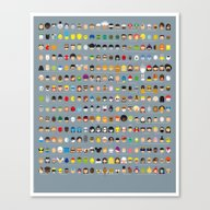Canvas Print featuring Famous Capsules - The Bi… by Greg-guillemin