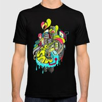 Popcity Mens Fitted Tee Black SMALL