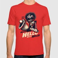 HELLO! HELLO! (red) Mens Fitted Tee Red SMALL