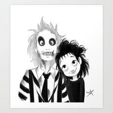 Beetle Juice fan art Art Print