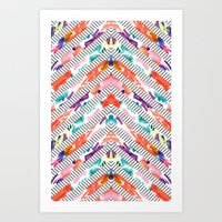 Painted Chevron Art Print