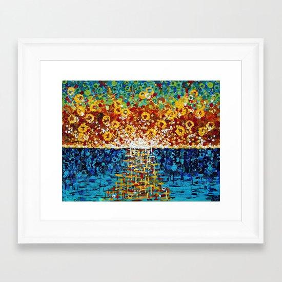 :: Confetti Sunrise :: Framed Art Print