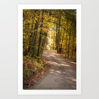 The Road Less Traveled (New England Fall) Art Print