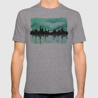 Mint Green London Skyline 2 Mens Fitted Tee Athletic Grey SMALL