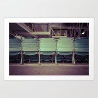 Wrigley Field Stadium Seats 2 Art Print