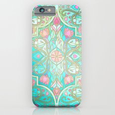 Floral Moroccan in Spring Pastels - Aqua, Pink, Mint & Peach Slim Case iPhone 6s