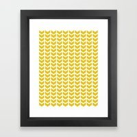Mustard Chevron Framed Art Print