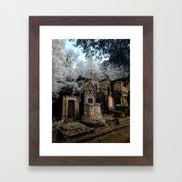 Cemetery Infrared Framed Art Print