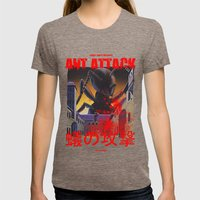 Ant Attack Womens Fitted Tee Tri-Coffee SMALL