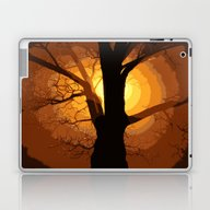 Sunset Over The Tree I Laptop & iPad Skin