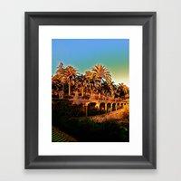 Sunny Barcelona Framed Art Print