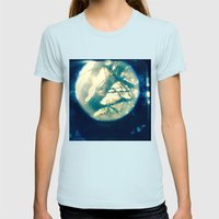 Birdie Shoulder Dreams Womens Fitted Tee Light Blue SMALL
